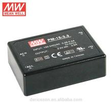 MEAN WELL 15W 3.3V 3.5A de salida única UL CUL tipo médico AC / DC fuente de alimentación de conmutación PM-15-3.3