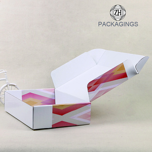 Collapsible cheap white shipping box packaging