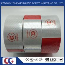 DOT-C2 Honey Comb Tipo PVC Segurança Branco e Vermelho Reflexivo Fitas para Caminhão