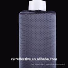 Tissu réfléchissant en spandex gris argent avec des trous respirants pour les maillots de bain