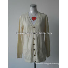 ladies' knitted cardigan 100% fine wool