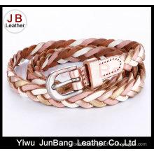 Fashion Ladie′s PU Leather Braid Belt