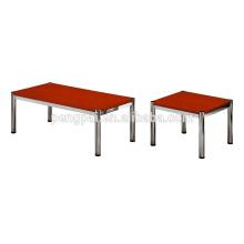 antirust steel tubular legs coffee cafe table with panel