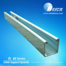 Sección HDG C Canal de acero (UL, cUL, NEMA, IEC, CE, ISO)