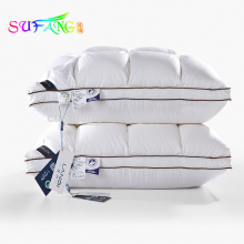 Ropa de hotel / barato venta al por mayor de textiles de venta caliente hotel de 5 estrellas almohadas de algodón 100% hotel almohada de relleno de algodón para dormir
