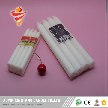 8pcs Unscented White Chandelier Candles