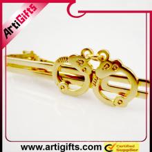 Logotipo personalizado de metal troquelado logo insignia corbata clip