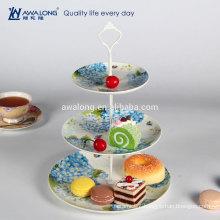 48% bulk bone meal Blue and white China classic ceramic Three layer plates