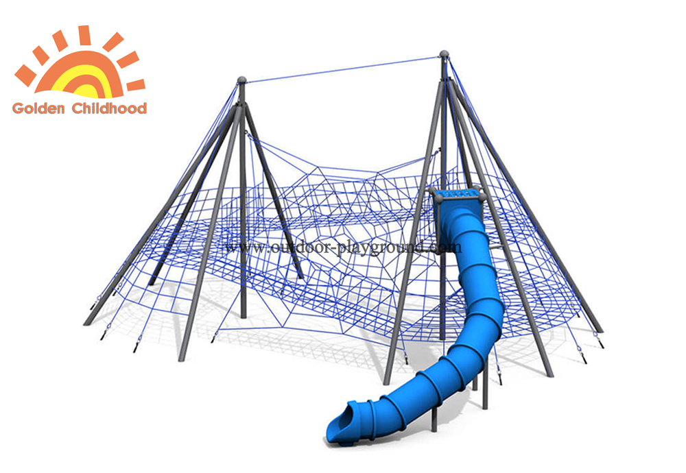 outdoor discovery playground with tube