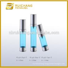 15ml/20ml/30ml plastic cosmetic airless bottle,uv coating airless pump bottle,cosmetic airless bottle