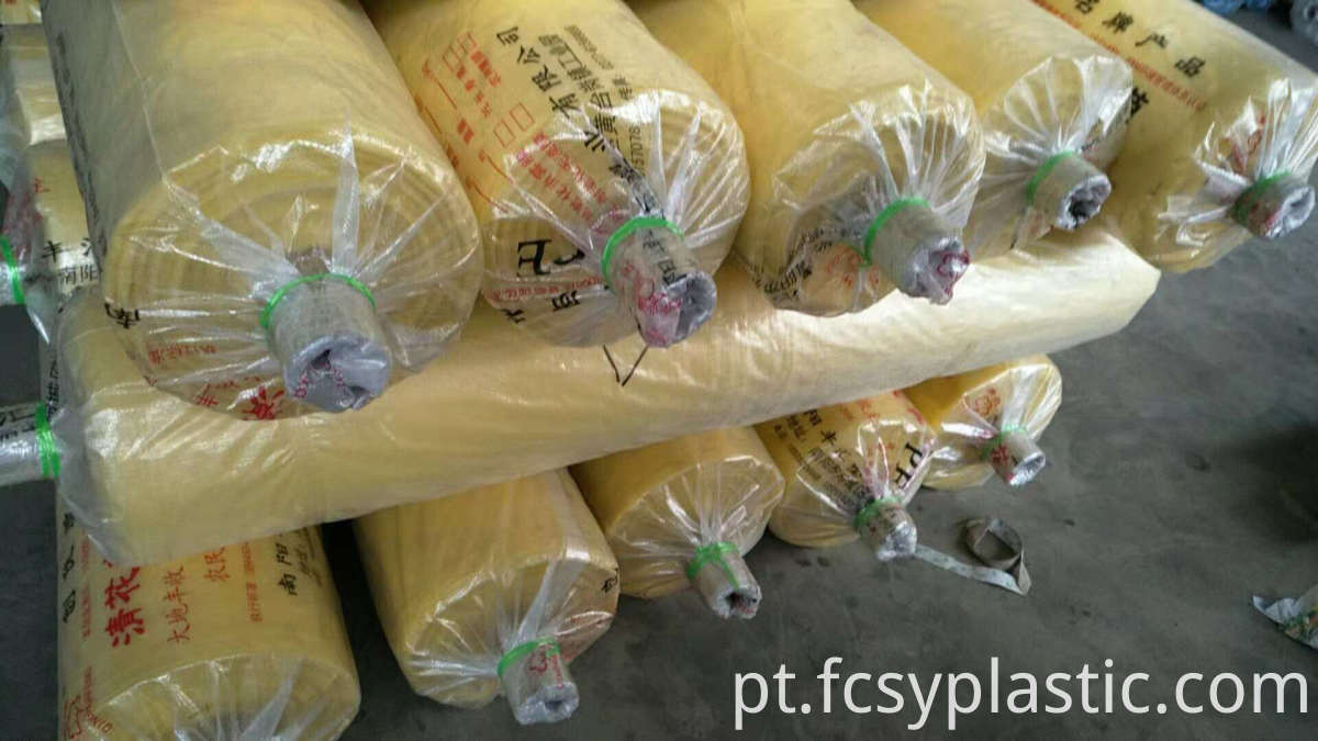 yello color greenhouse film packing