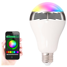 LED Bulb Bluetooth Speaker with APP