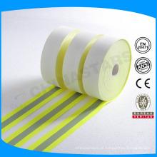 ISO 11612 Fluo amarelo ou laranja retardador de fogo tecido refletivo