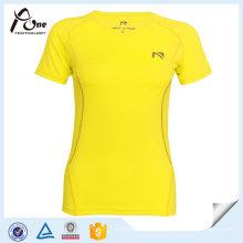Mesdames manches courtes en cours d'exécution T-Shirt Gym vêtements