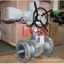 Electric Actuated Trunnion Mounted Forged Carbon Steel Ball Valve