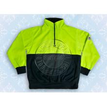 Yellow Safety Half Zipper Sweat Shirt Jacket Hoody