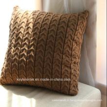 Taie d'oreiller housse de coussin en tricot acrylique (C14104)