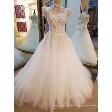 LS09112 Stones sleeve high collar shop decoration dry cleanin sale dress wedding manufacturing kids wear