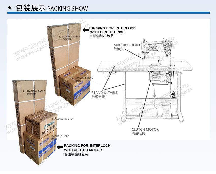 ZY600-02BB Zoyer Pegasus Cylinder Flat Bed Interlock industrial Sewing Machine