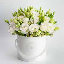 Kundenspezifische weiße Blumenkastenverpackung