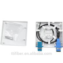 FTTH 2core de fibra óptica de montaje en pared de montaje / placa frontal
