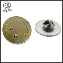 Smiley face pin insignias metal
