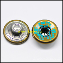 Screen Printing Single Nail Jeans Button