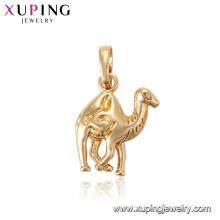 33549 xuping 18k colgante animal dorado con forma de camello