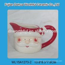 Creative design cute santa claus ceramic milk cup for christmas