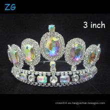 Shinning AB Crown Reina de la belleza Corona Crown Tiara Coronas de desfile
