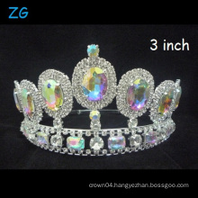 Shinning AB Crown Beauty Queen Crown Wedding Tiara Pageant Crowns