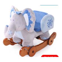 Eje de balancín de madera de doble función de elefante animal con salvaguardia