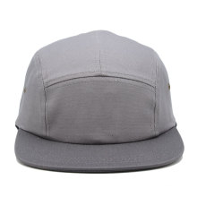 gris clair couleur simple promotionnel personnalisé nouveau design plat bord 5 panneau camp cap