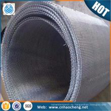 Use cinta de PE resistente al estiramiento de líneas 40 mm 210 mm de ancho de malla holandesa de malla de alambre tejida inversa