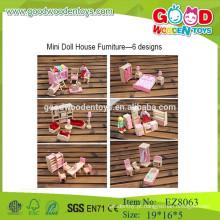 Fingir jogar mobiliário brinquedos de madeira mobiliário brinquedos infantis brinquedos de móveis de madeira