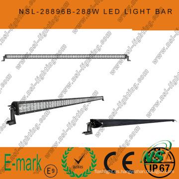 2016! ! ! Barra de luz LED de conducción todoterreno súper brillante de 50 pulgadas y 288 W, barra de luz LED de 12 V, barra de luz LED impermeable