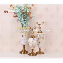 Factory supply2016 new designer mosaic flower glass vase for home decoration