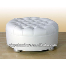 Unique design round seat ottoman sofa with buttons top XY0314