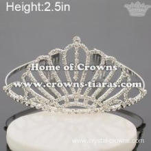 Princess Pageant Crowns With Dangle Rhinestones