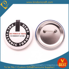 Inscription au badge Tie Button Forum à bas prix en Chine