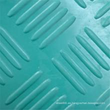 Hoja de goma antideslizante Green Checker