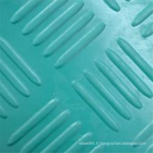 Feuille de caoutchouc anti-dérapant vert checker