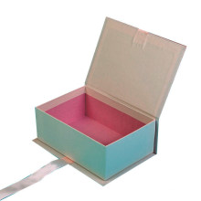 Hot Sell Custom Paperboard Recycle Gift Box with Ribbon