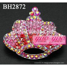 Broches en cristal rose