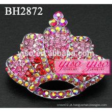Broches de moda de cristal rosa