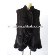knitted mink fur vest