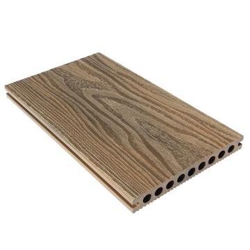 Lado doble de madera compuesta acanalada del color de los lados dobles