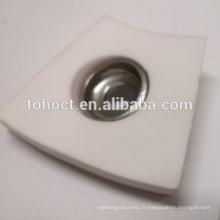 Céramique courbée Céramique d'alumine Plaque de brique céramique à souder avec capuchon en céramique et virole métallique