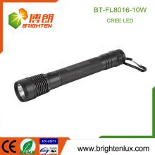 Fabrik nach Maß 3C Zelle verwendet 3 Modi helle hohe Leistung Aluminium 10w Cree XML2 führte Multifunktions-Taschenlampe mit Carabina