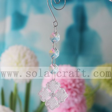 Wholesale Vintage Faceted Octagonal Chandelier Crystal Prisms With 14MM Beads And 41MM Pendant